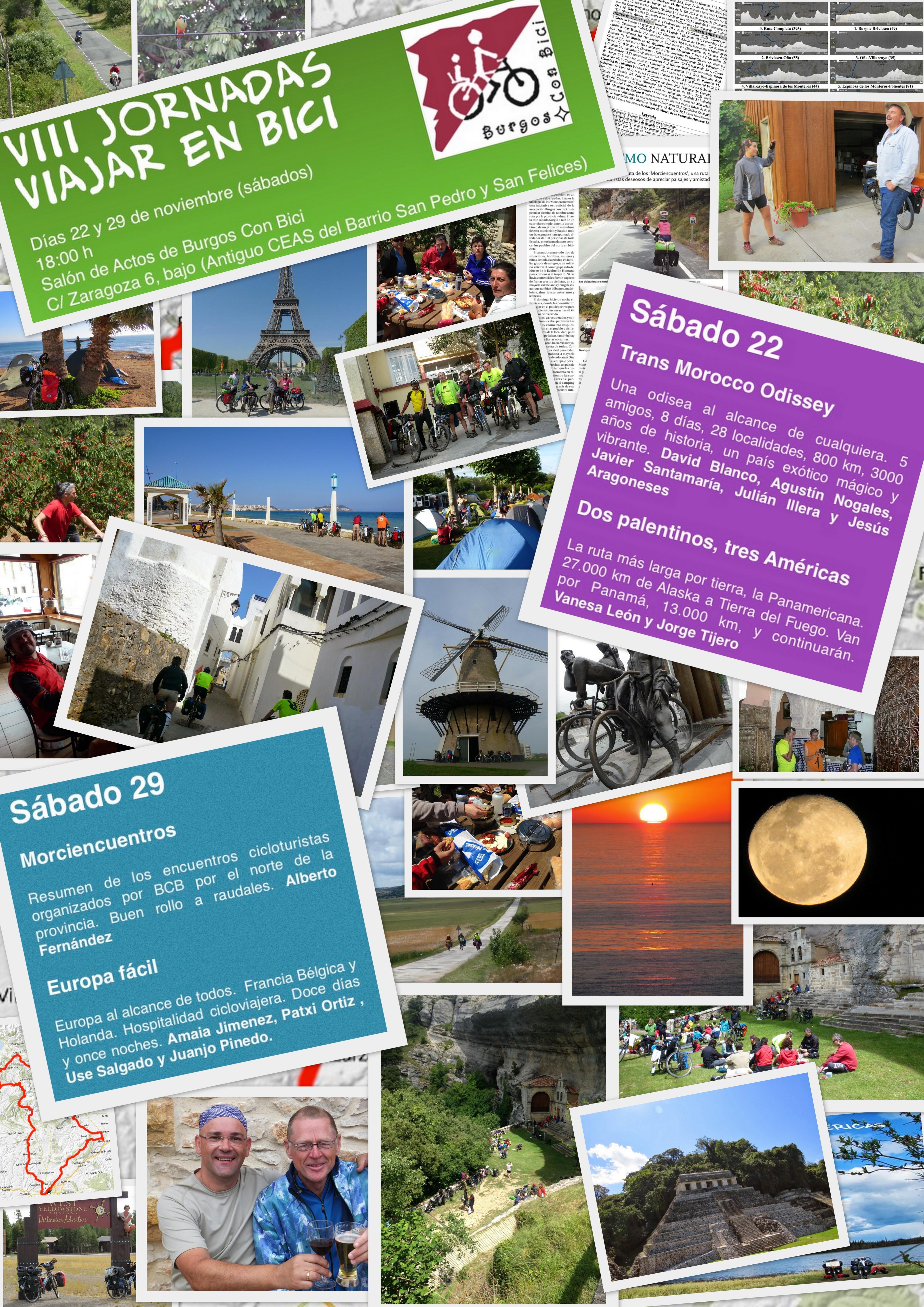 Cadrtel de las VIII Jornadas Viajar en Bici