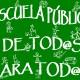 cartel escuela pública