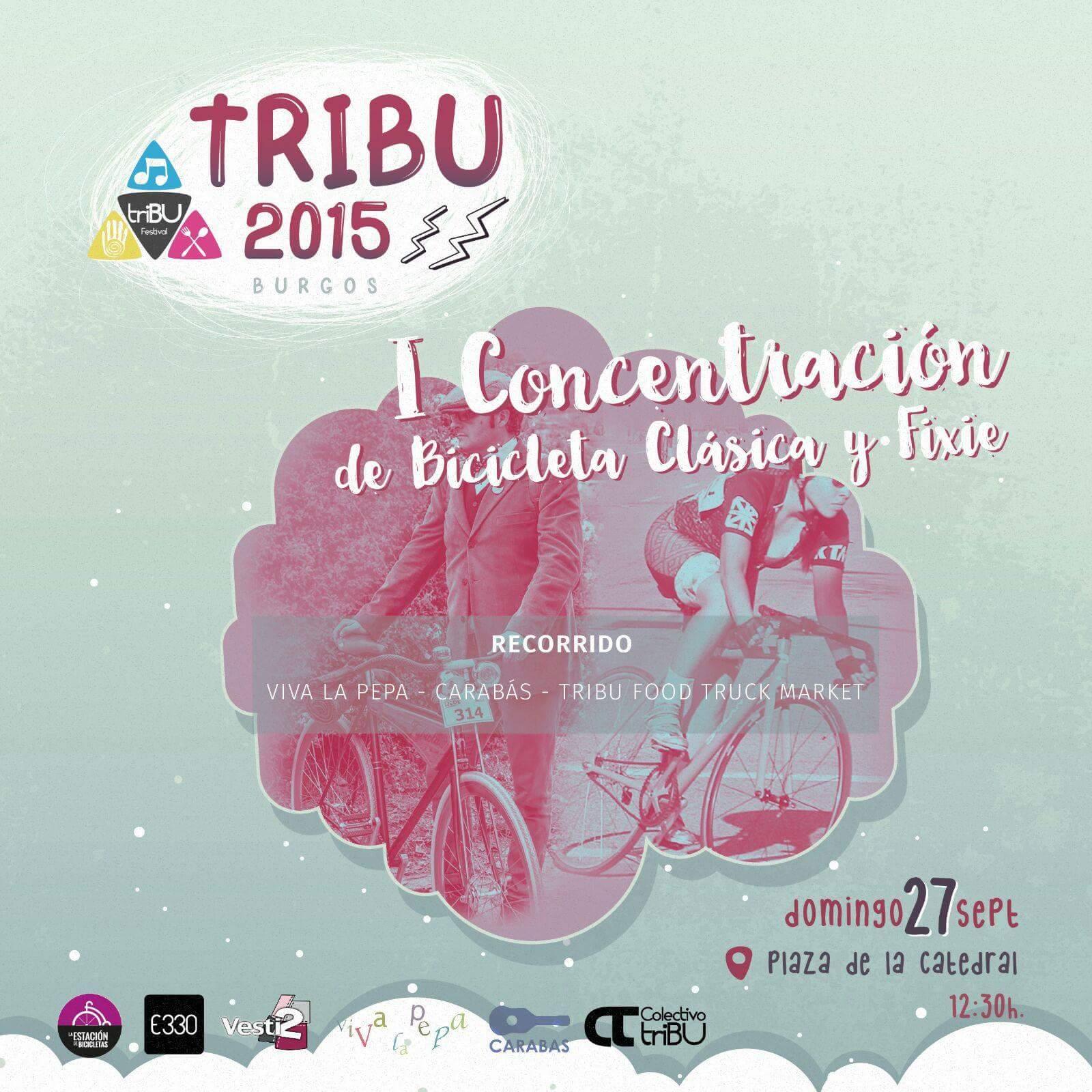 cartel tribu concentración bicis clásicas