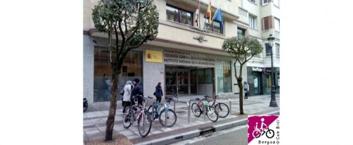 Aparcabicis en Burgos