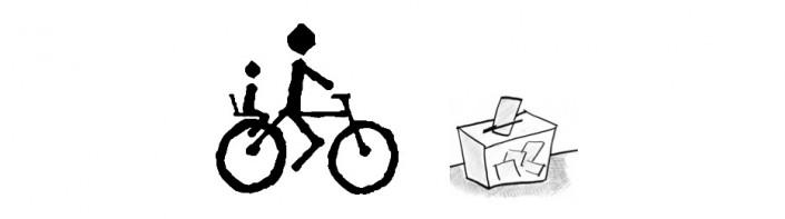Bici y urna electoral
