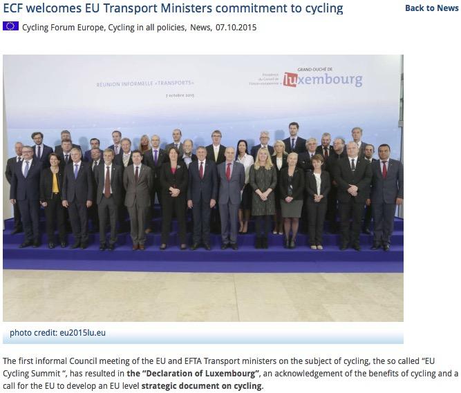 Ministros firmantes de la declaración de Luxemburgo