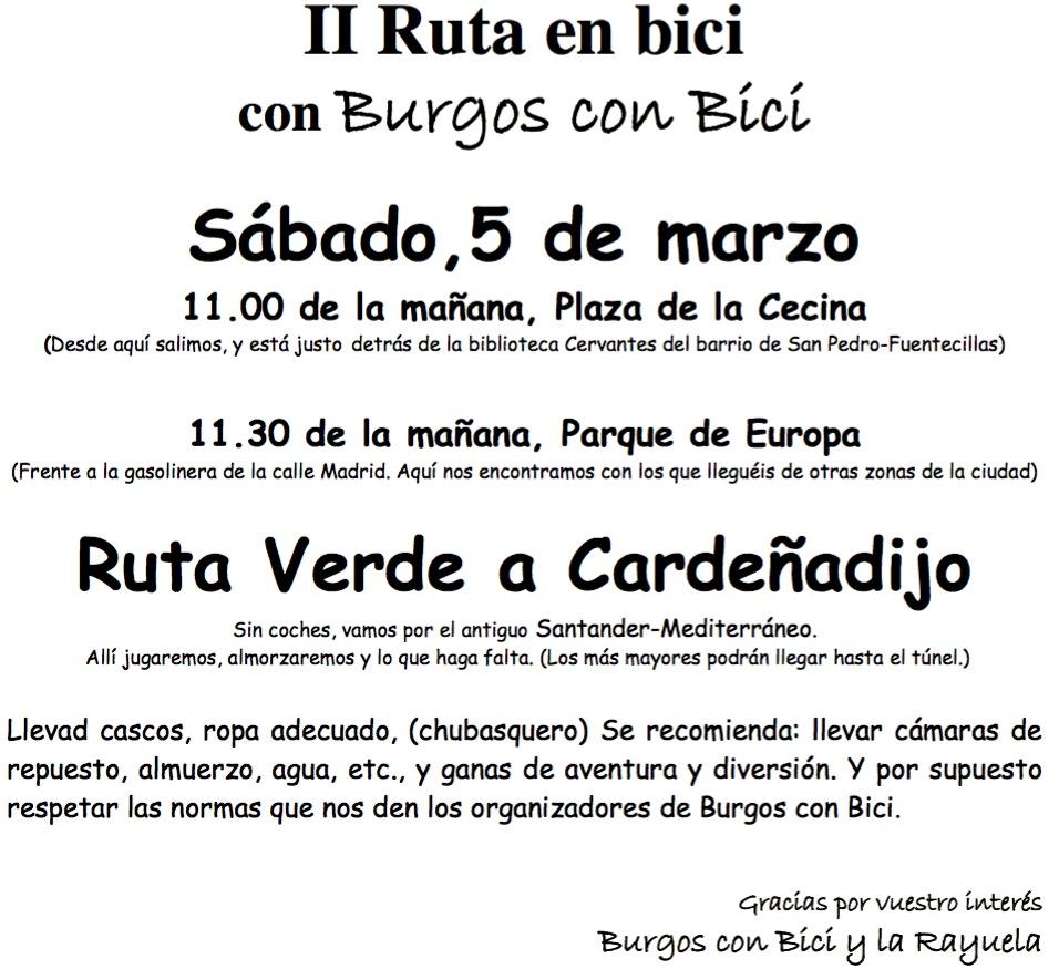 Convocatoria II Ruta La Rayuela