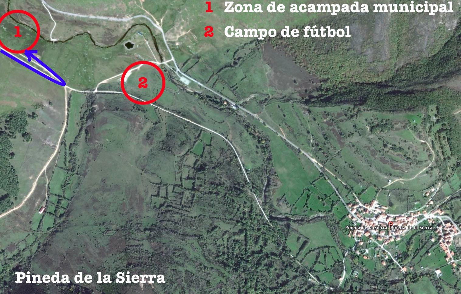 Mapa zona Pineda de la Sierra