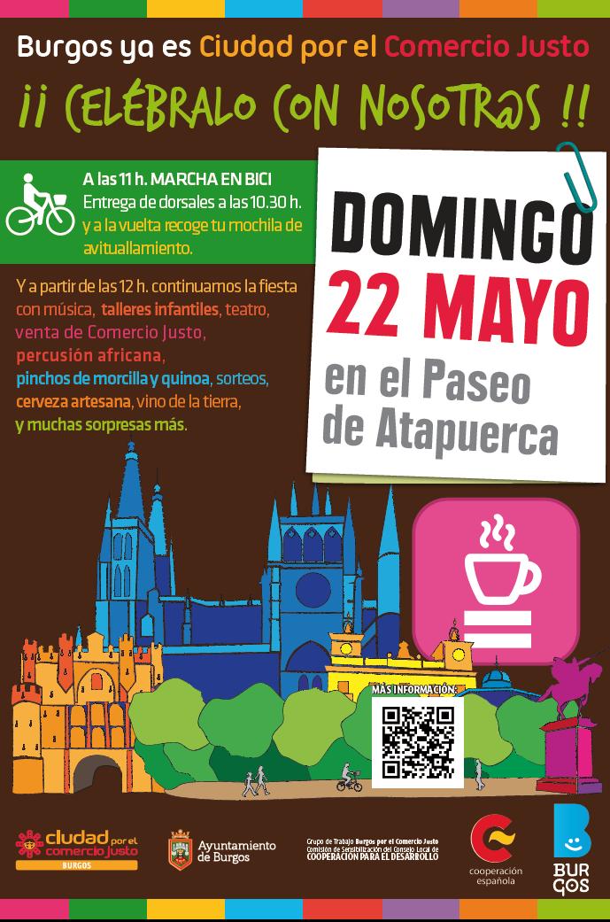 Burgos Ciudad por el comercio Justo. Cartel