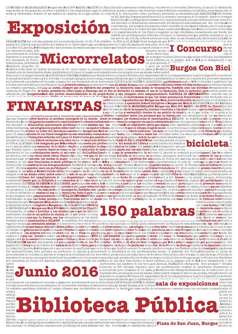 Exposición Microrrelatos. Cartel. Junio 2016