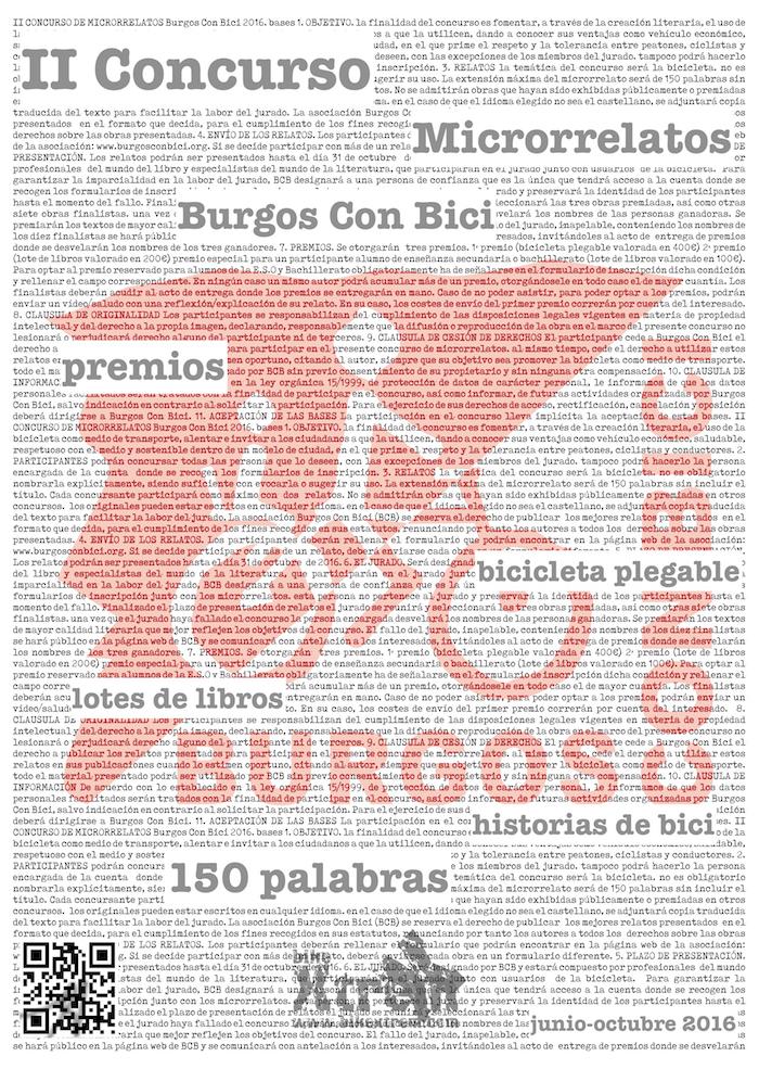 Exposición Microrrelatos. Cartel. Junio 2016