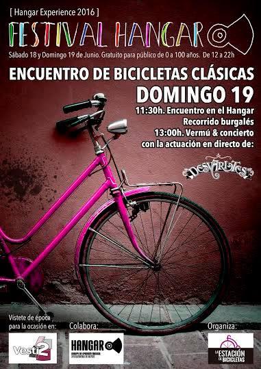 Encuentro de biciletas clásicas. Cartel