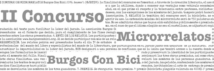 II Concurso Microrrelatos BCb. Cabecera