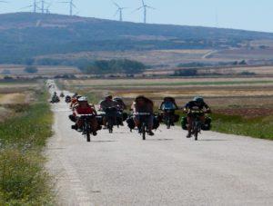Cicloviajeros en ruta