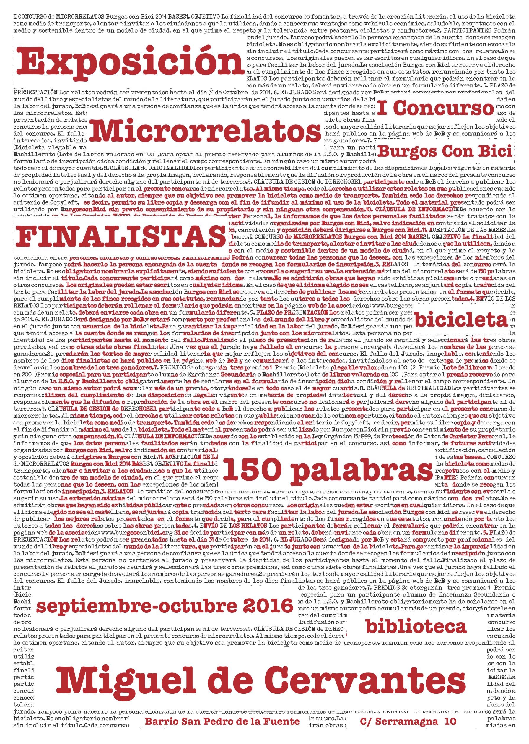 cartel-microrrelatos-exposicion-bibiloteca-cervantes-blanco-y-rojo