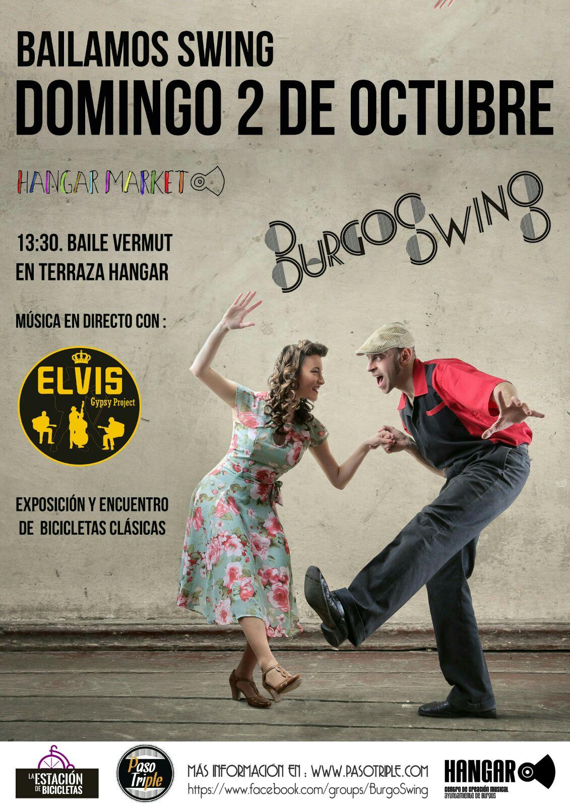 Cartel del evento Bailamos Swing. Del Hangar