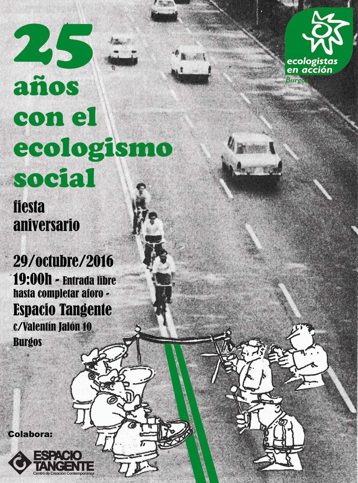 Cartel 25 años con el ecologismo social. Ecologistas en Acción