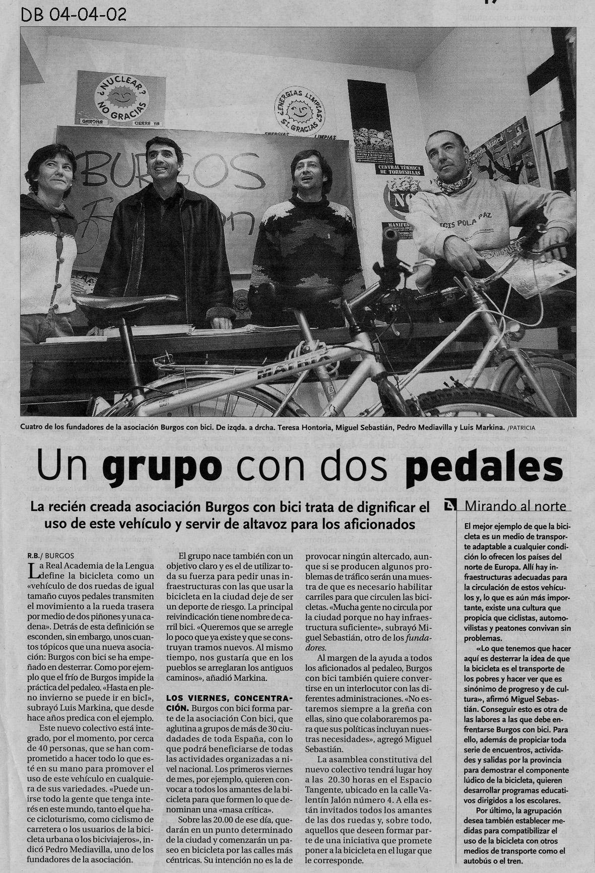Año 2002. Rueda de prensa . Ecologistas