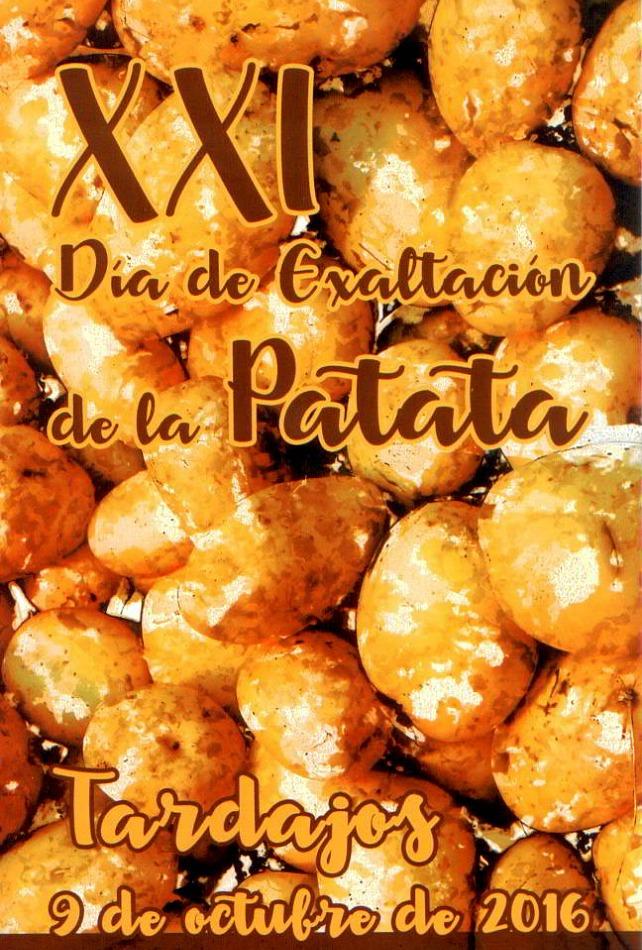 Cartel XXI día de la patata. Tardamos