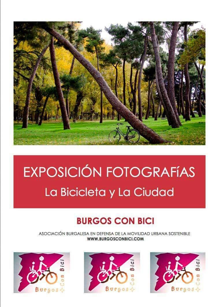 Cartel exposición fotos bici HUBU