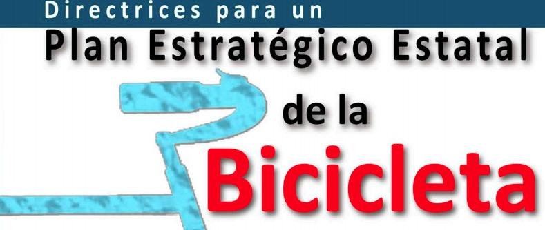 Portada documento Directrices para el Plna estratégico nacional de la bicicleta