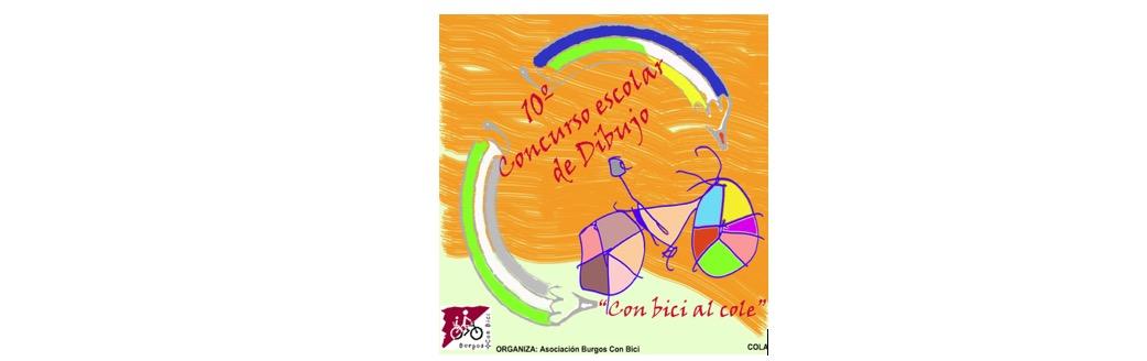 Banner 10º Concurso escolar de dibujo. Con Bici al Cole