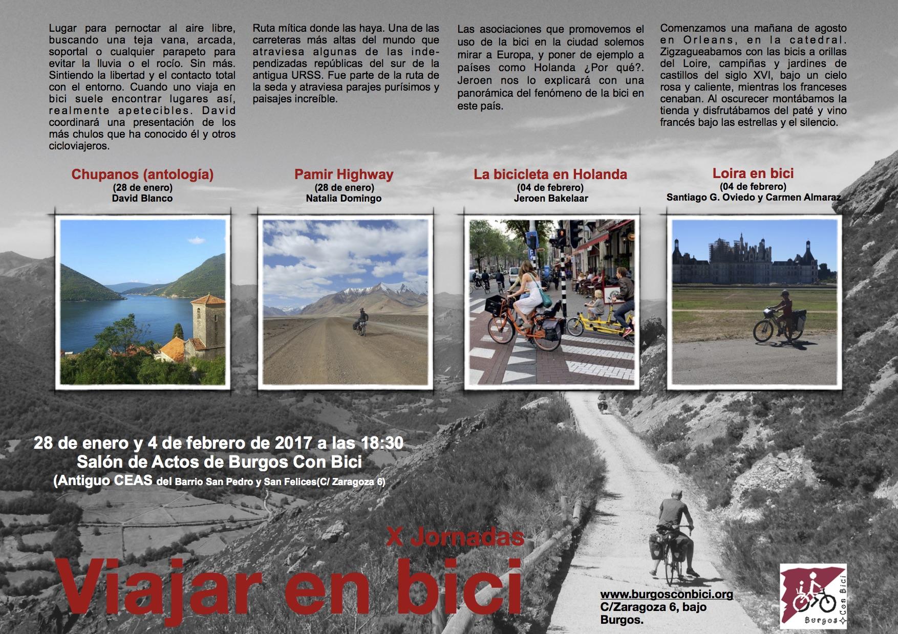 X Jornadas Viajar en Bici. 2017.