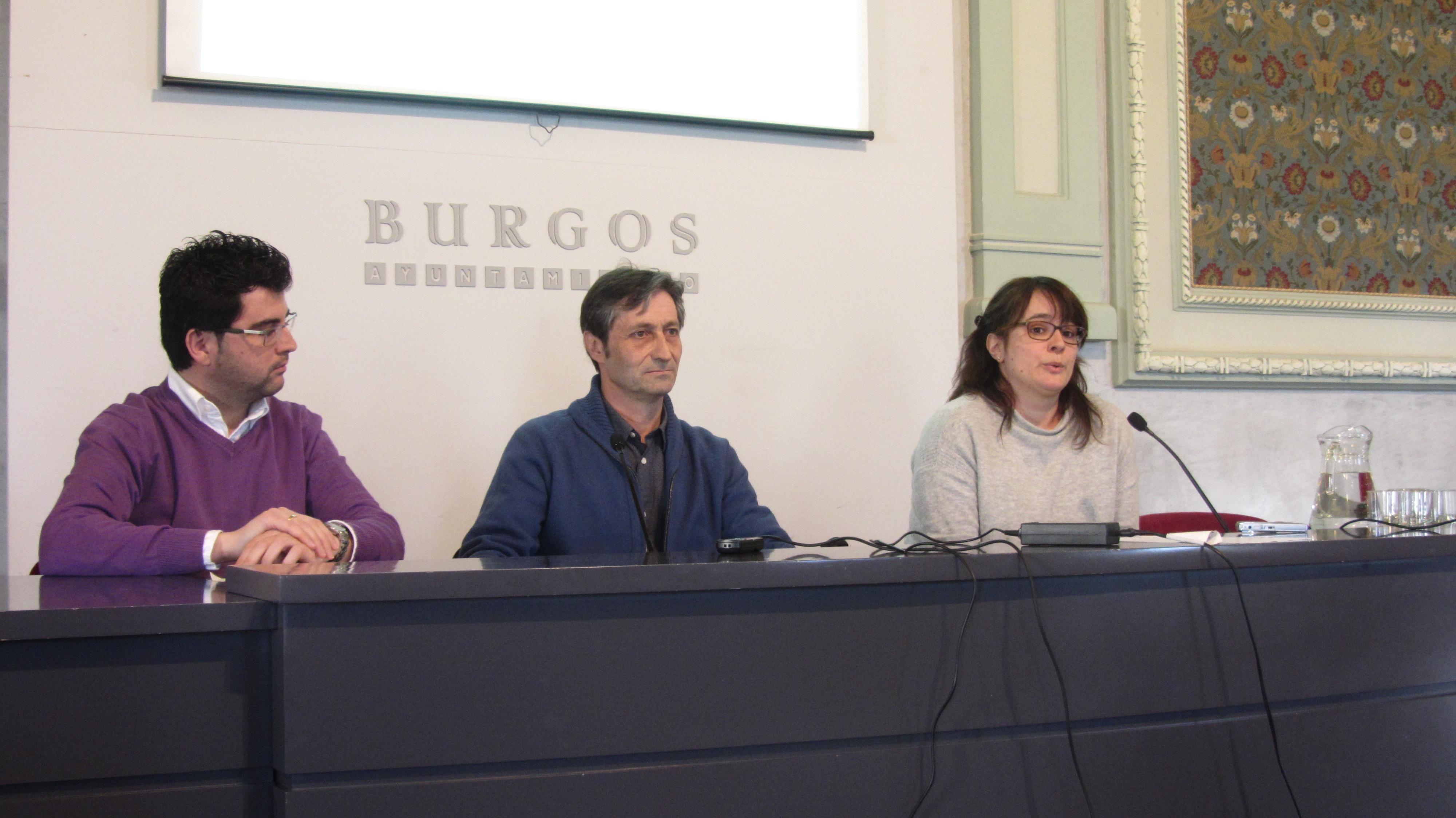 Felix (andando) Pedro Mediavilla (Burgos Con Bici) Elvira (Ecologistas en acción)