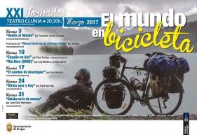 Cartel XXI Jornadas el Mundo en bicicleta