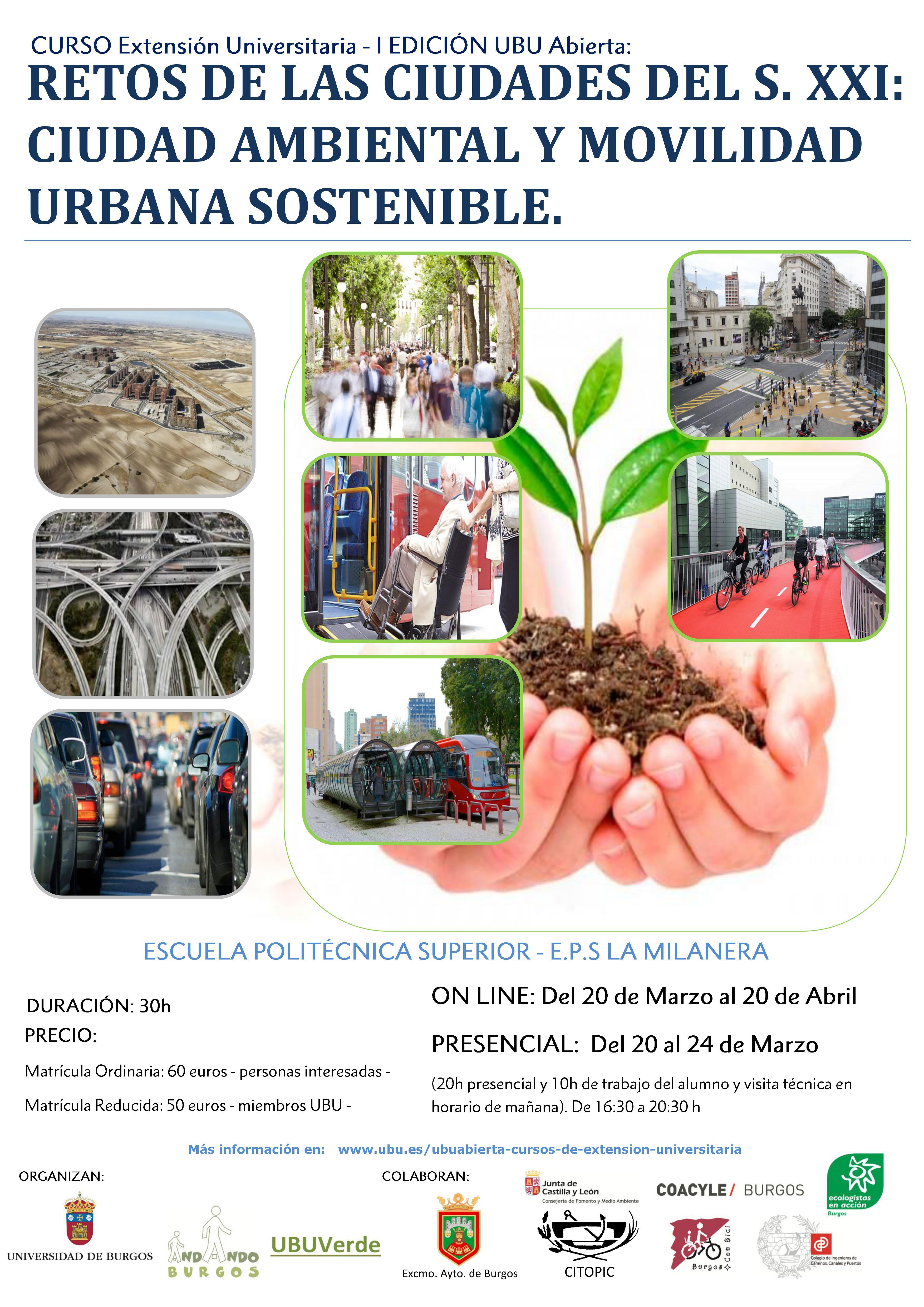 Cartel Curso UBu medioambiente y movilidad