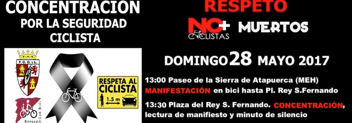 Banner. Concetración. No más ciclistas muertos. v05