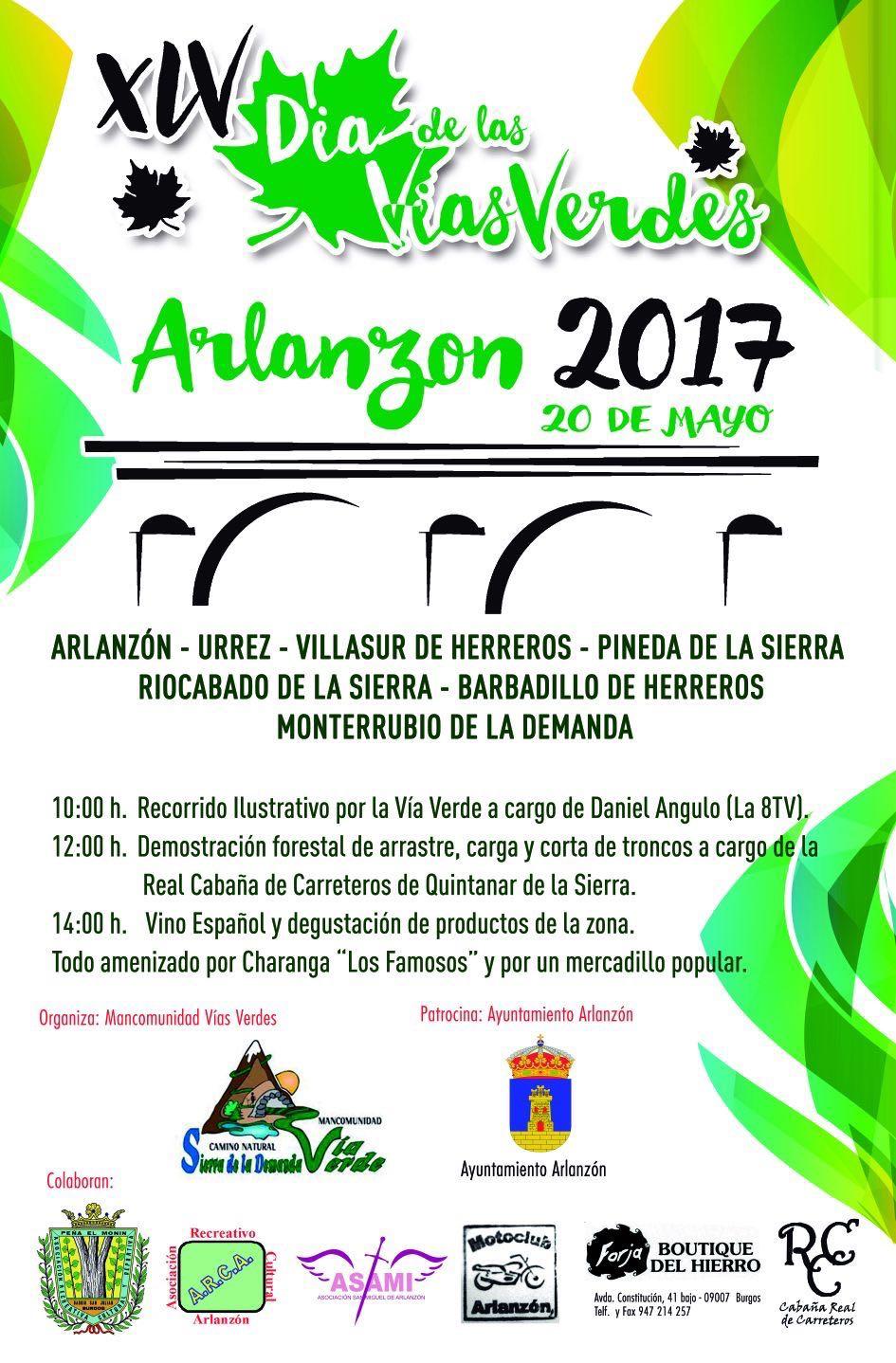 Cartel Fiesta de las Vías Verdes 2017 en Arlanzón