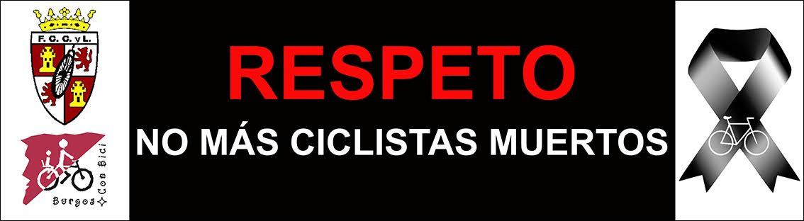 Pancarta Concentración no + ciclistas muertos