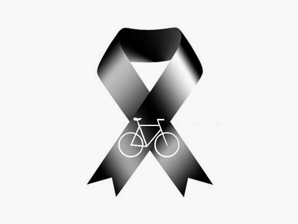 Lazo negro luto ciclistas. con logo bici