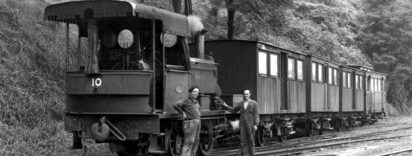 tre de vapor y ferroviarios