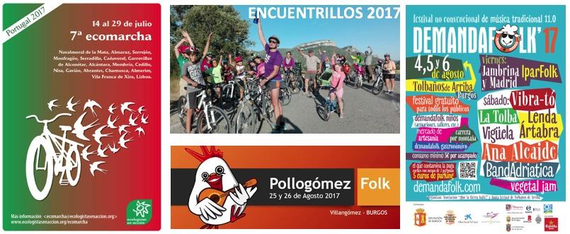 Ecomarcha, Encuentrillos, Demanda Folk, Pollogómez Folk