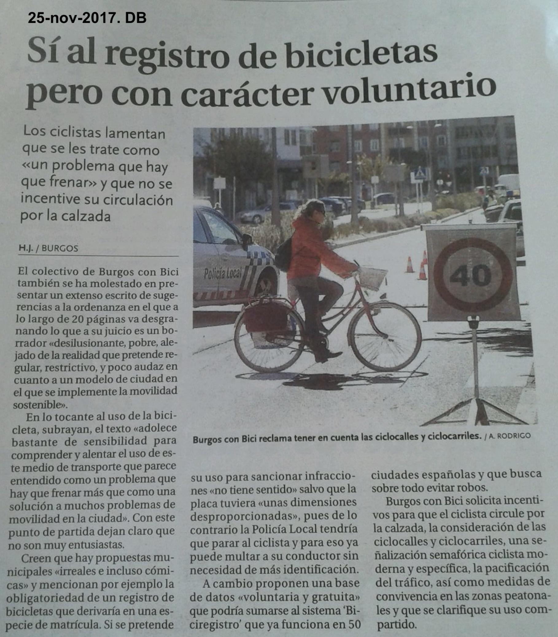 20171125. DB. si al registro de bicicletas pero voluntario..