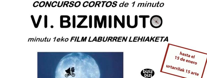 Cartel del VI Concurso de cortos de vídeo, BIZIMINUTO