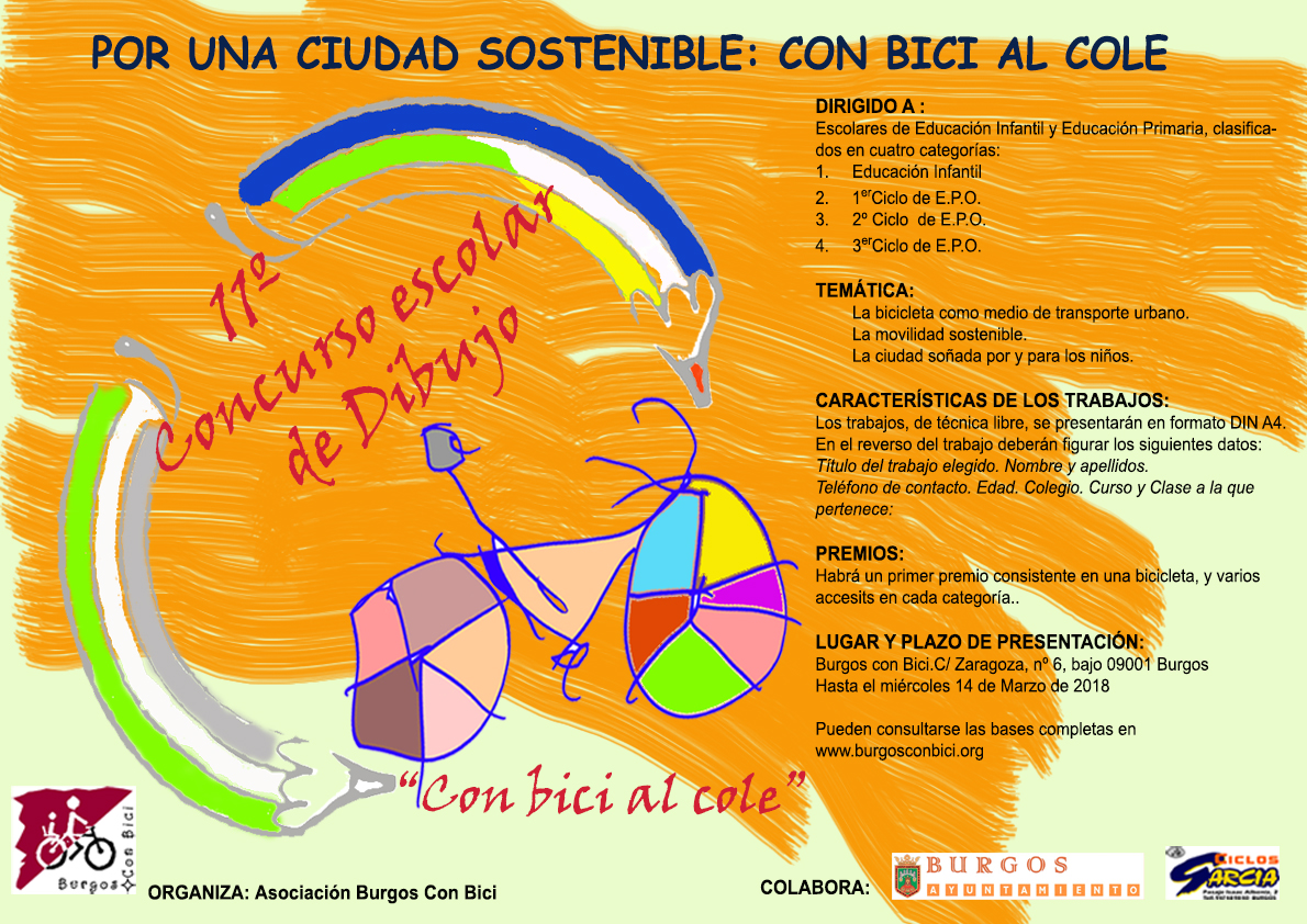 CARTEL 11º CONCURSO DE PINTURA colabora Ayto de Burgos y Garcia