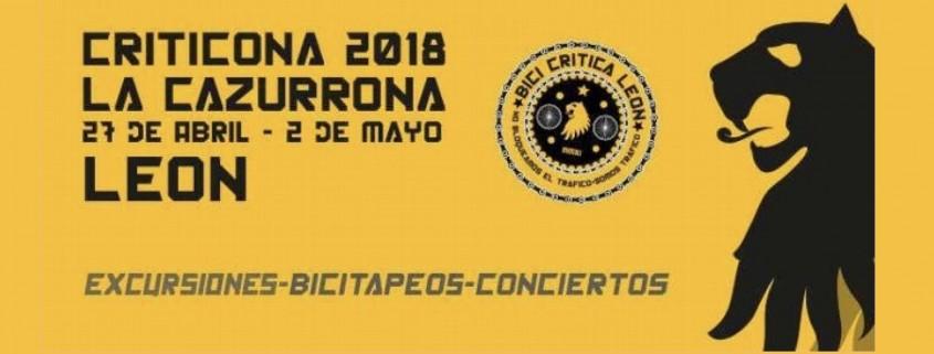 Cartel de la Criticona 2018. L cazurrona. del 27 de abril al 2 de mayo de 2018