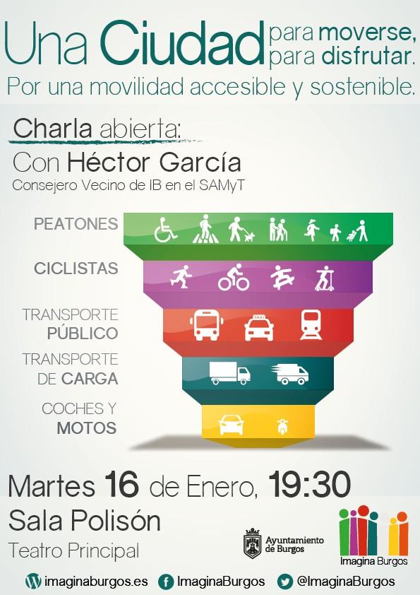Cartel: una ciudad para moverse y para disfrutar. Movilidad accesible y sostenible..