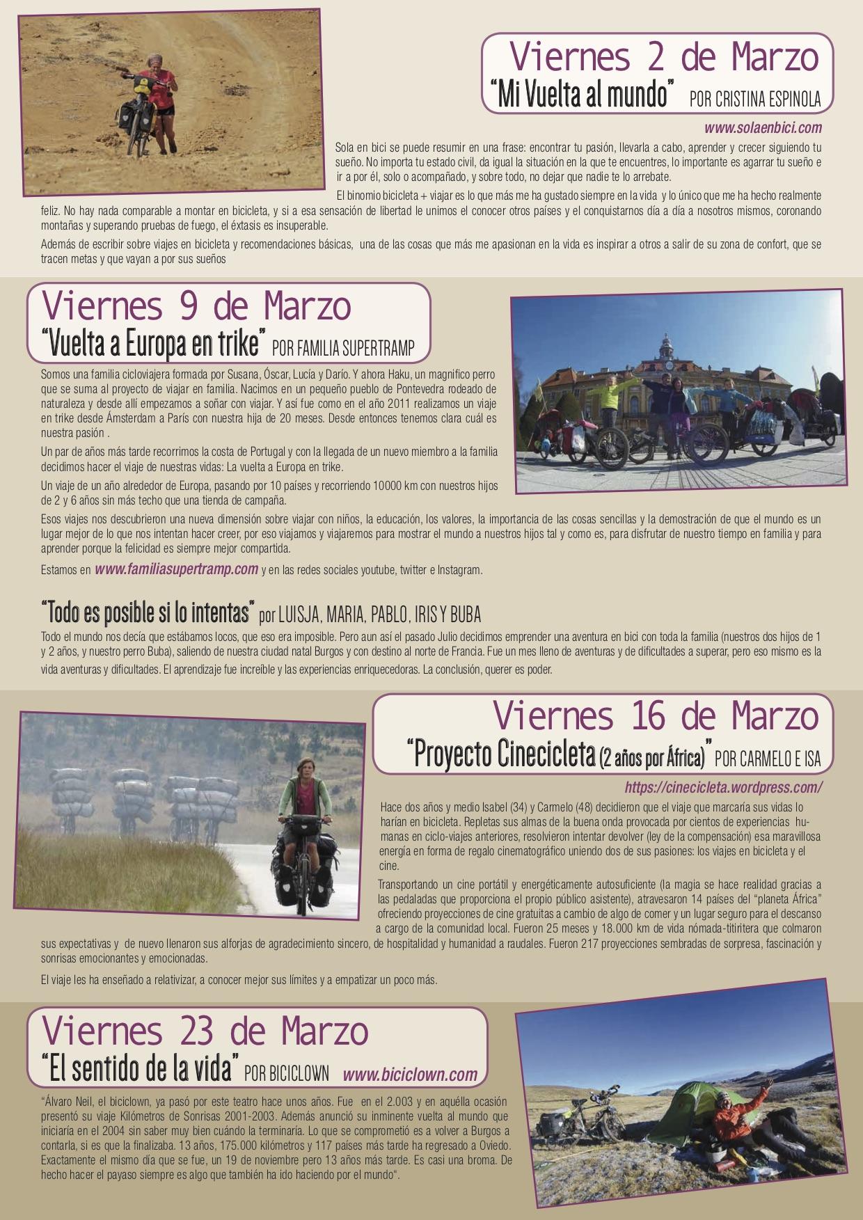 XXII J. El mundo en bicicleta. Díptico 2