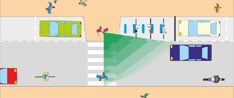 aparcamiento junto pasos peatones