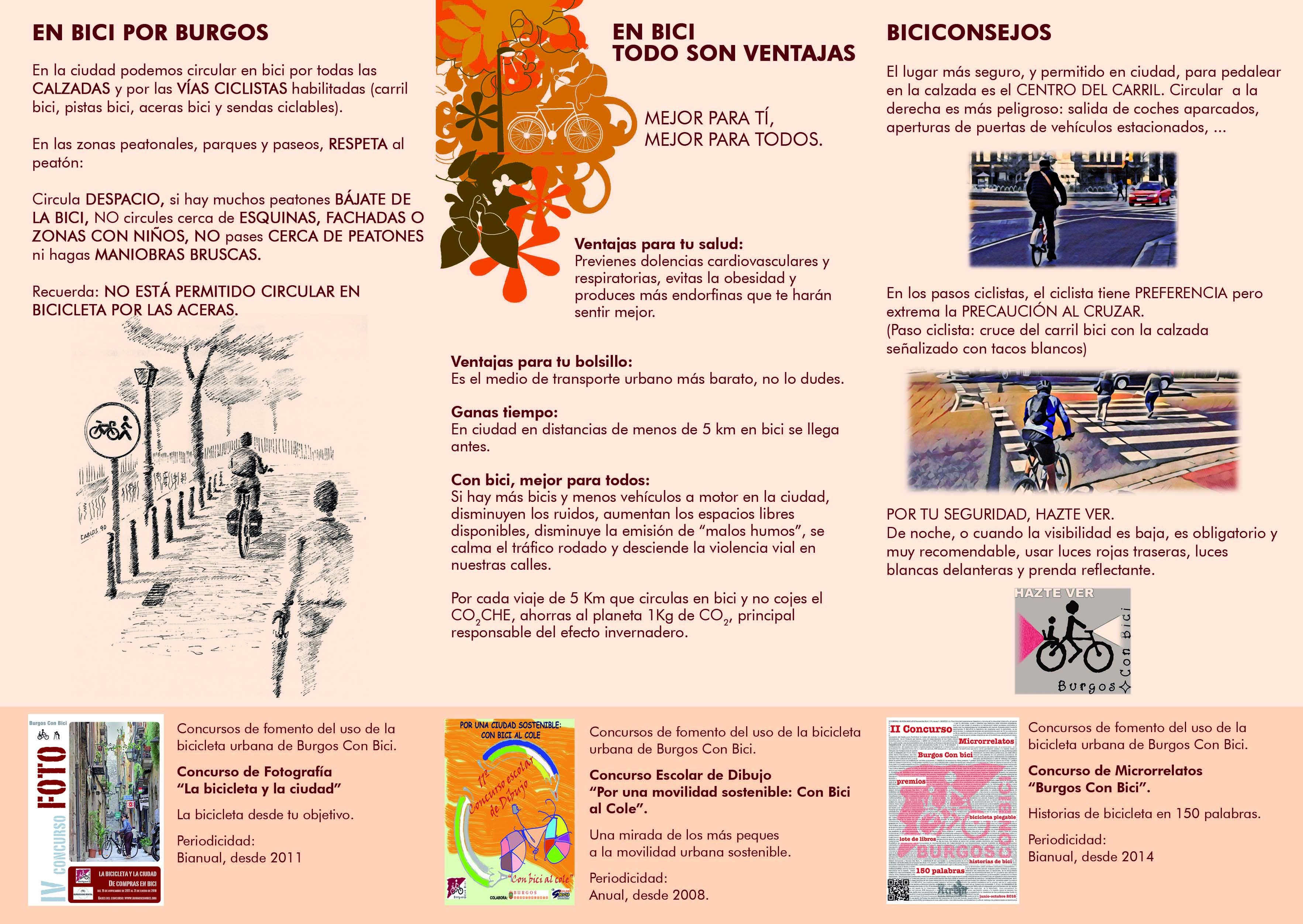 Páginas interiores del triplo de la exposición Pensando en bici