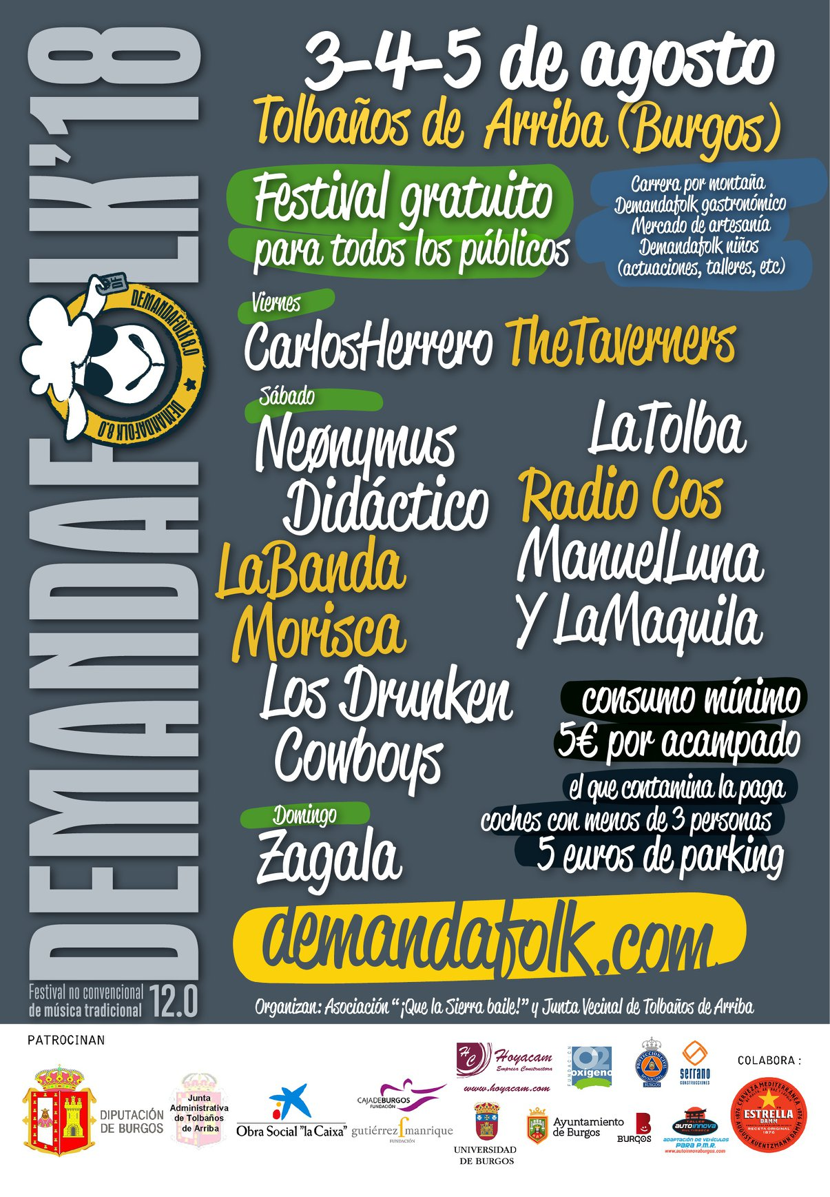 Cartel Demanda Folk 2018