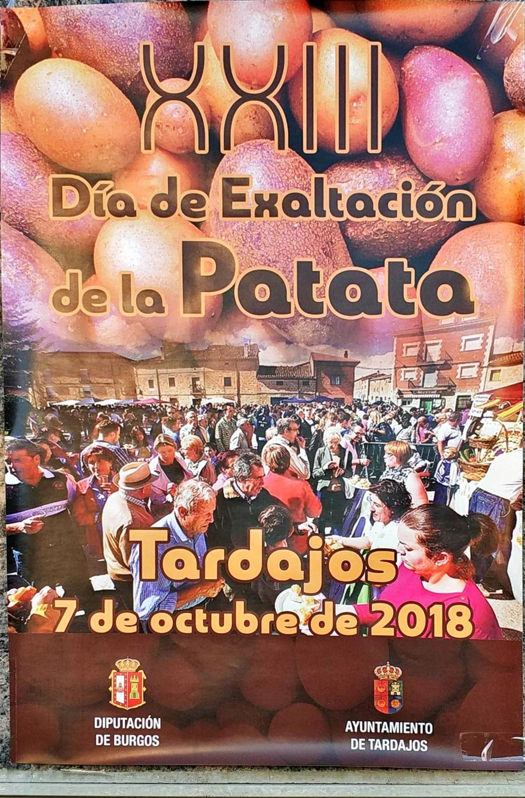 Cartel de la XXIII fiesta de exaltación de la patata en Tardajos