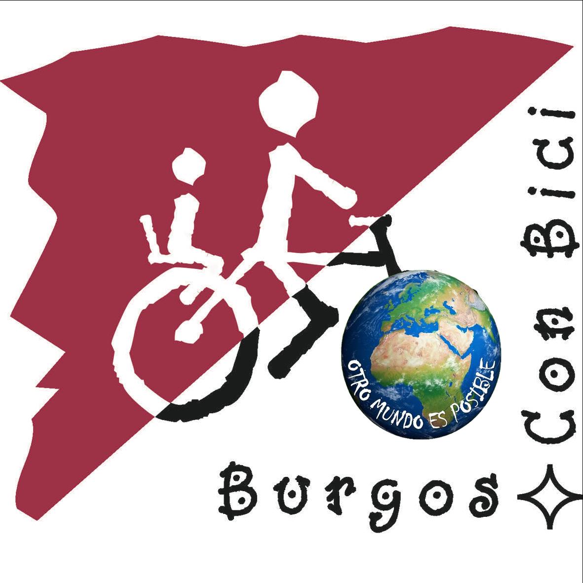 logotipo BCB con logo Otro mundo es posible en rueda delantera
