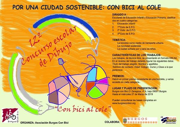 CARTEL 12º CONCURSO DE PINTURA colabora Ayto de Burgos y Garcia 600X400