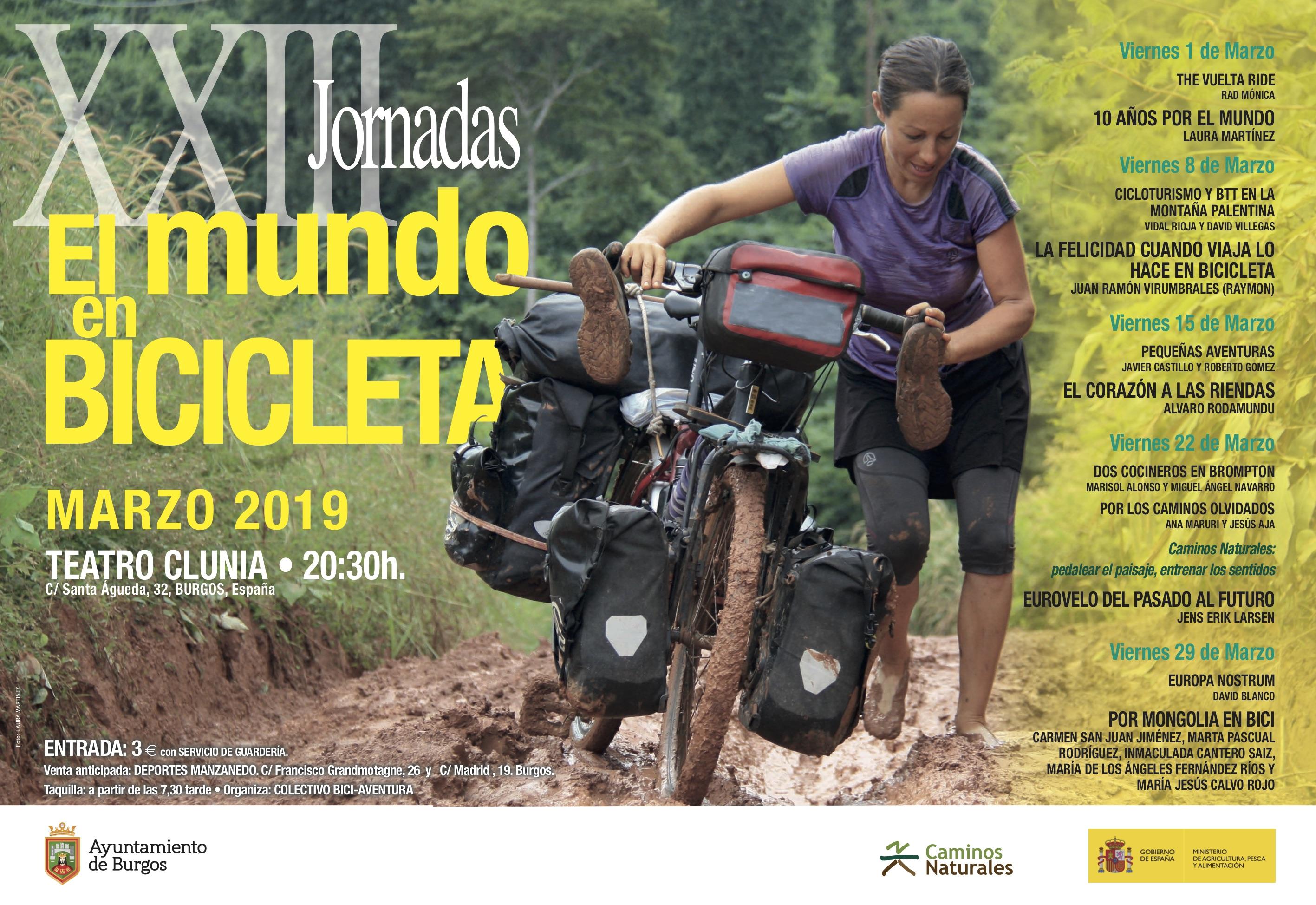 Cartel XXIII Jornadas El mundo en bicicleta