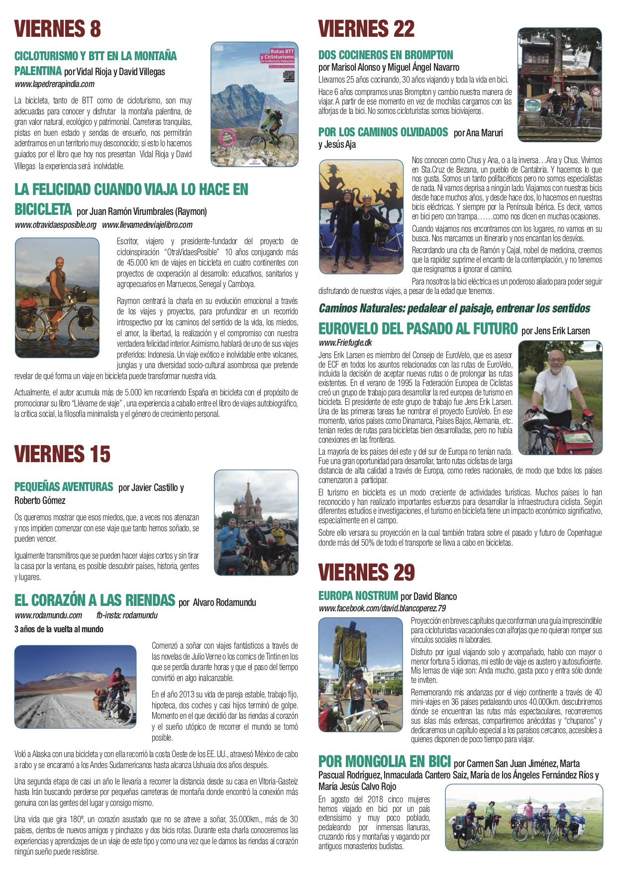 TRÍPTICO 2 XXIII Jornadas El mundo en bicicleta