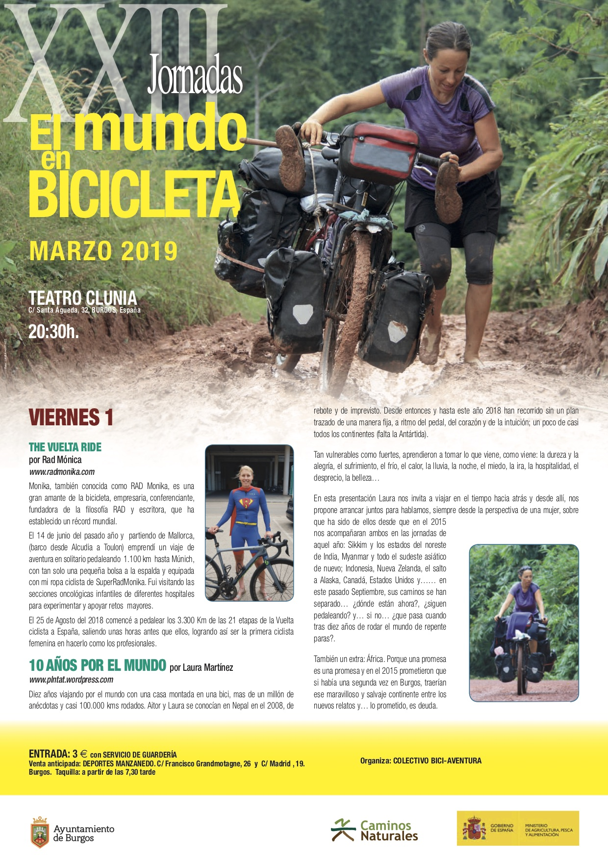TRÍPTICO  XXIII Jornadas El mundo en bicicleta