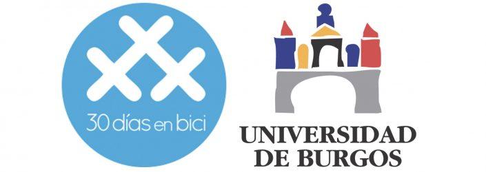 Logo #30dias en bici y logo Universidad de Burgos