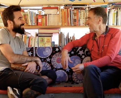 Pablo Calvo (Bikecanine) Entrevista a Markina en BiblioTejo