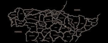 Mapa de la ruta de 3000 km de Ana y Edurne por el norte de España. Pasarán dos veces por la provincia de burgos